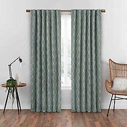 Eclipse Nora Geometric Rod Pocket 100% Blackout Window Curtain Panel
