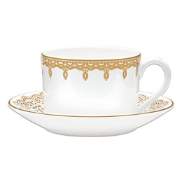 Waterford® Lismore Lace Gold Cup and Saucer