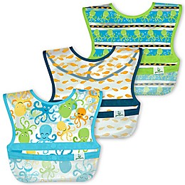 green sprouts® 3-Pack Snap & Go Wipe-Off Bibs
