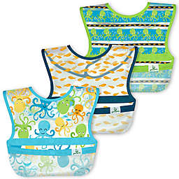 green sprouts® by i play® 3-Pack Snap & Go Wipe-Off Bibs