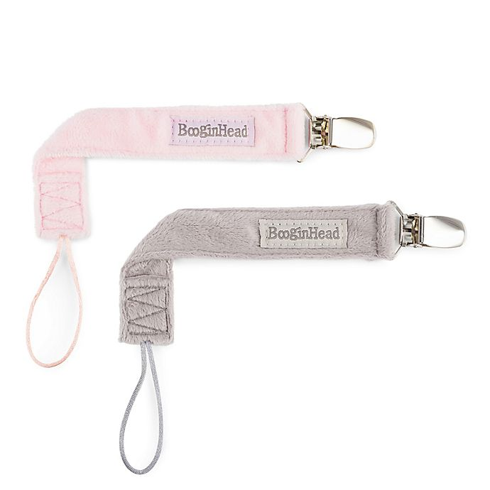 Alternate image 1 for BooginHead® PaciGrip 2-Pack Luxury Pacifier Straps