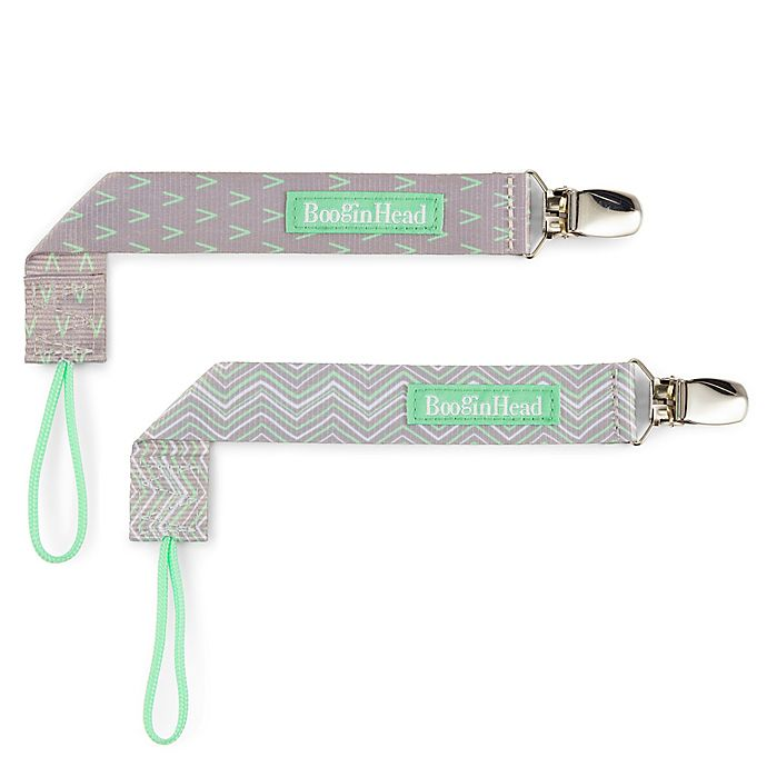 Alternate image 1 for BooginHead® PaciGrip 2-Pack Pacifier Straps