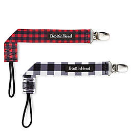BooginHead® PaciGrip Plaid 2-Pack Pacifier Straps