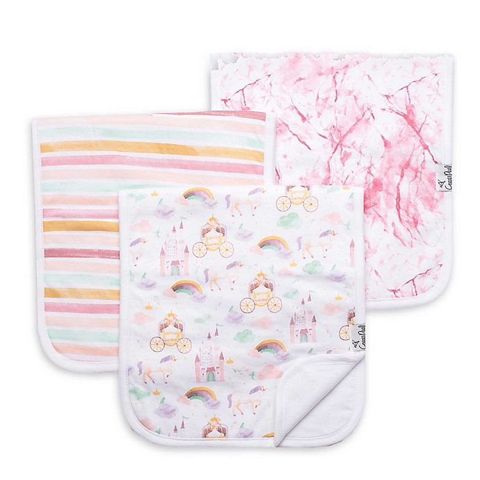 Alternate image 1 for Copper Pearl™ 3-Pack Enchanted Burp Cloths in Pink