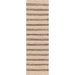 Novogratz by Momeni® Montauk Lighthouse 2'3 x 10' Handcrafted Runner in Charcoal
