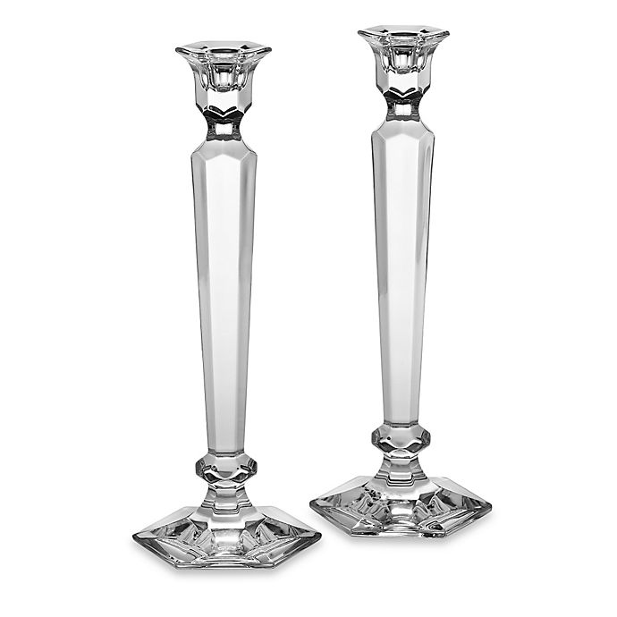 Alternate image 1 for Reed & Barton Summit 12-Inch Crystal Candlesticks Pair