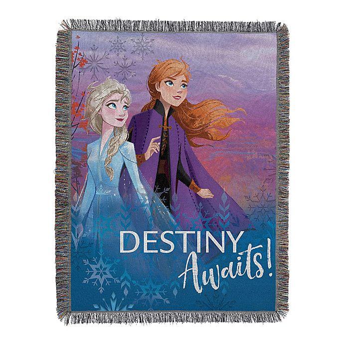 Alternate image 1 for Disney® Frozen 2 Destiny Awaits Woven Tapestry Throw Blanket