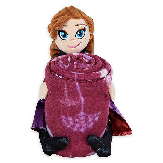 Alternate image 1 for Disney® Frozen 2 Dandelion Anna Character Shaped Pillow and Fleece Throw Blanket Set