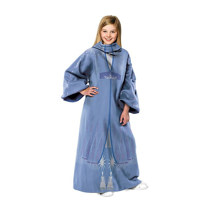 Alternate image 1 for Disney® Frozen 2 Elsa Fall Gown Youth Comfy Throw Blanket with Sleeves