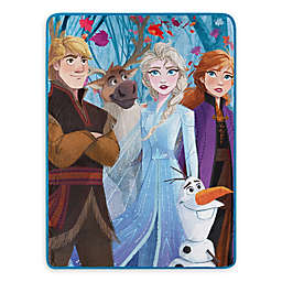 Disney® Frozen 2 Fall Foliage Micro Raschel Throw Blanket