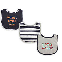 """Luvable Friends® 3-Pack """"I Love Dad"""" Bibs"""