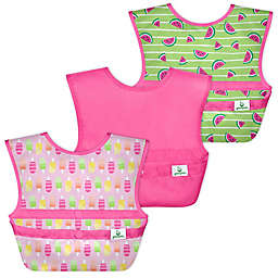 green sprouts® by i play® 3-Pack Snap & Go Easy-Wear Bibs