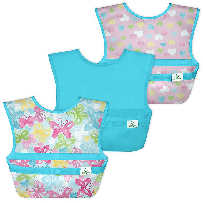 Alternate image 1 for green sprouts® by i play® 3-Pack Snap & Go Easy-Wear Bibs