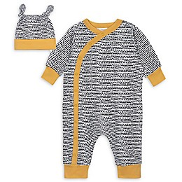 Gerber® 2-Piece Abstract Coverall and Cap Set in Black/White