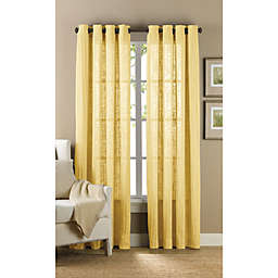 B. Smith Origami Grommet 108-Inch Window Curtain Panel in Yellow