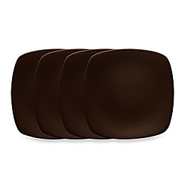 Noritake® Colorwave Mini Quad Plates in Chocolate (Set of 4)