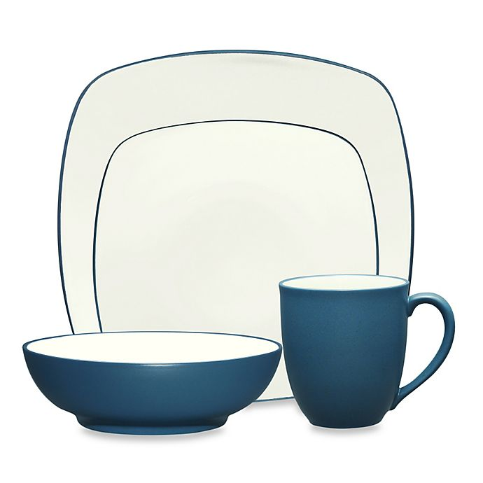 Alternate image 1 for Noritake® Colorwave Square 4-Piece Place Setting in Blue