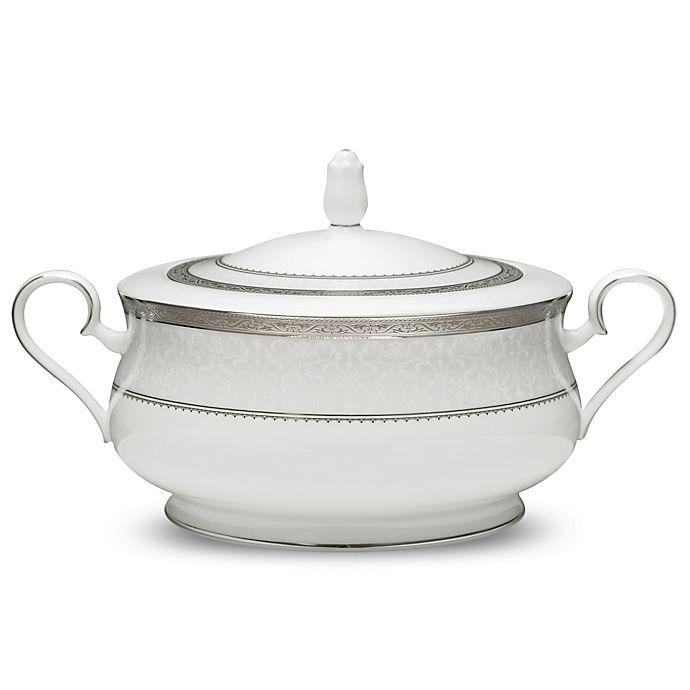 Alternate image 1 for Noritake® Odessa Platinum Covered Vegetable Bowl