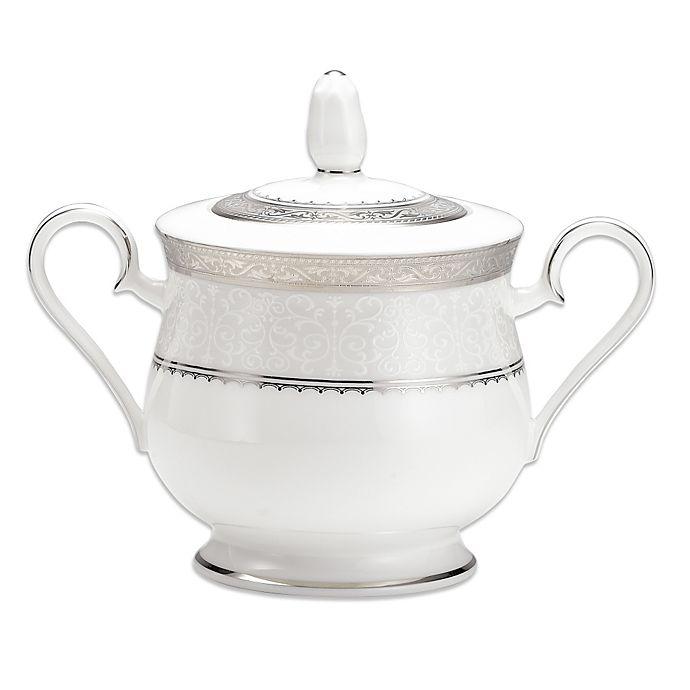 Alternate image 1 for Noritake® Odessa Platinum Covered Sugar Bowl