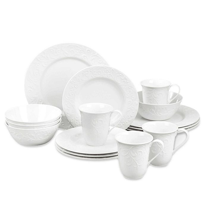Alternate image 1 for Lenox® Opal Innocence™ Carved 16-Piece Dinnerware Set