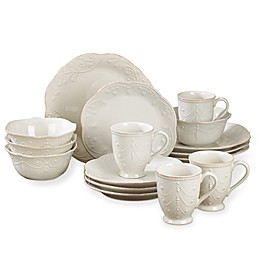Lenox® French Perle 16-Piece Dinnerware Set in White