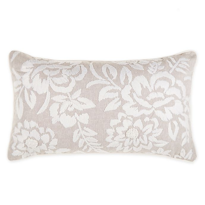 Alternate image 1 for Wamsutta® Huntington Oblong Throw Pillow in Dove Grey