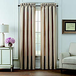 Waterford® Olann 2-Pack 84-Inch Rod Pocket Window Curtain Panels in Gold