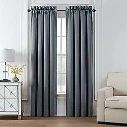Waterford® Trento 2-Pack 84-Inch Room Darkening Window Curtain Panels in Dark Blue