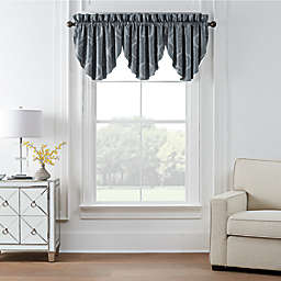 Waterford® Trento Room Darkening Window Valance in Dark Blue