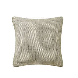 """Highline Bedding Co. Theo 16"""" Square Throw Pillow in Taupe"""