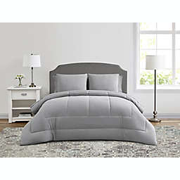 Wamsutta® Lustleigh Washed 7-Piece Full Comforter Set in Grey