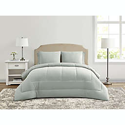 Wamsutta® Lustleigh Washed 7-Piece Full Comforter Set in Mint