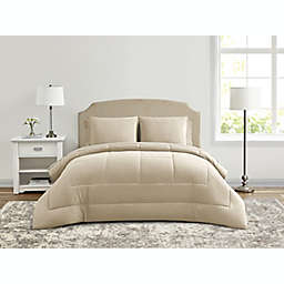 Wamsutta® Lustleigh Washed 7-Piece Full Comforter Set in Oatmeal