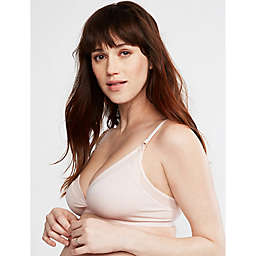 A Pea in the Pod Small Mesh Trim Clip Down Maternity and Nursing Bra in Pink