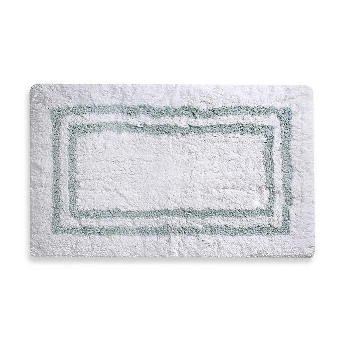 Alternate image 1 for Wamsutta 21-Inch x 34-Inch Hotel Spa Rug in White/Aqua