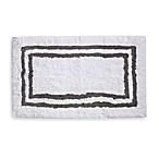 Wamsutta 21-Inch x 34-Inch Hotel Spa Rug in White/Grey