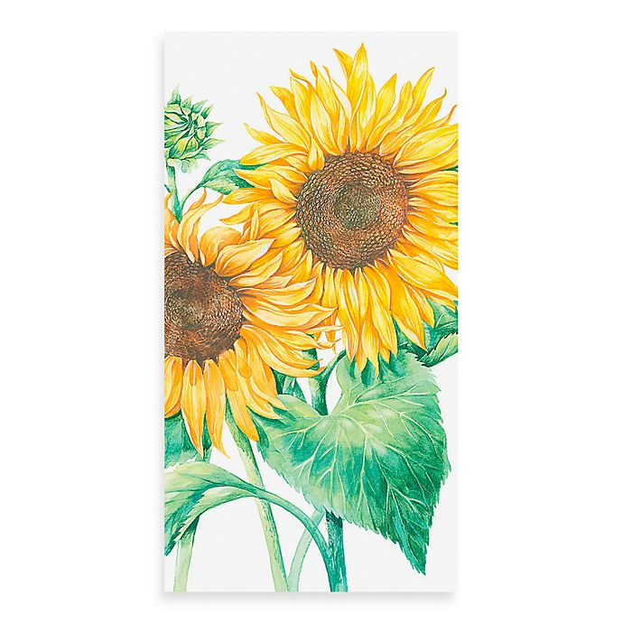 Alternate image 1 for 16-Count Sunflower Guest Towels