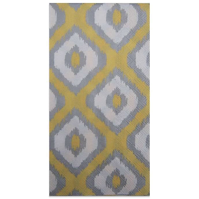 Paper Guest Towels Bathroom: Buy Paper Guest Towels In Ikat Yellow Silver (Pack Of 16