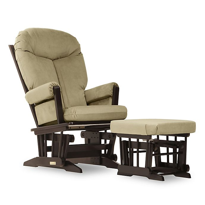 Alternate image 1 for Dutailier® Ultramotion Bella Classic Glider and Ottoman in Lichen Green