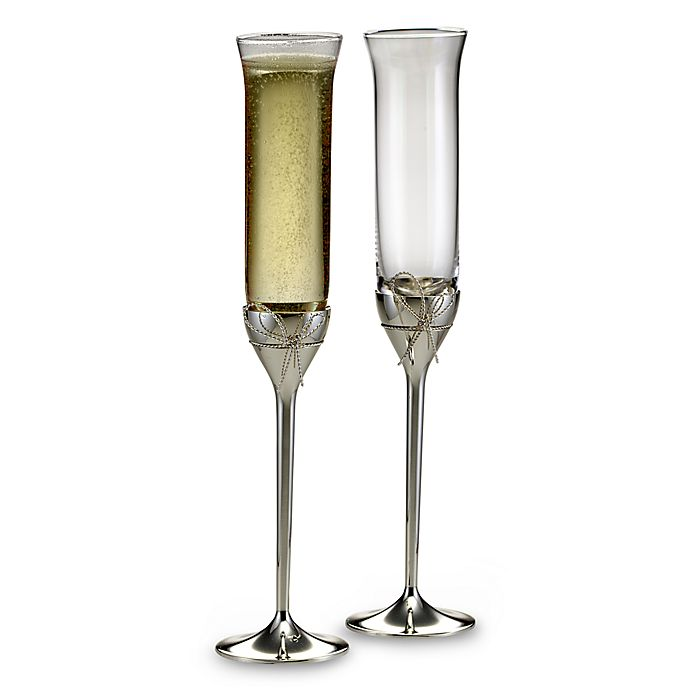 544a7a1f03c9 Vera Wang Wedgwood® Love Knots Toasting Flutes (Set of 2) | Bed Bath ...