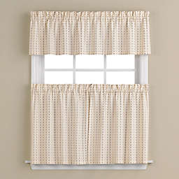 Hopscotch 56-Inch x 24-Inch Window Curtain Tier Pair in Neutral