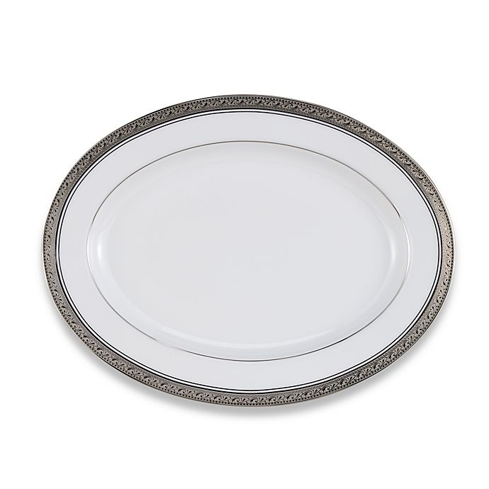 Alternate image 1 for Noritake® Crestwood Platinum 12-Inch Oval Platter
