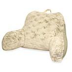 Crystal Faux Fur Backrest in Ivory