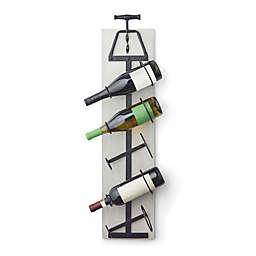 Bee & Willow™ Home Corkscrew 5-Bottle Wine Rack in Grey/Bronze