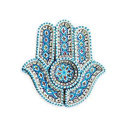 Kamsah Turquoise Hamsa 12-Inch Dip Set