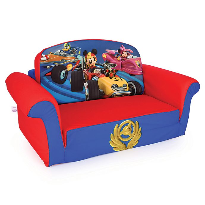 Alternate image 1 for Marshmallow Disney® Mickey Mouse Roadsters 2-in-1 Flip Open Sofa