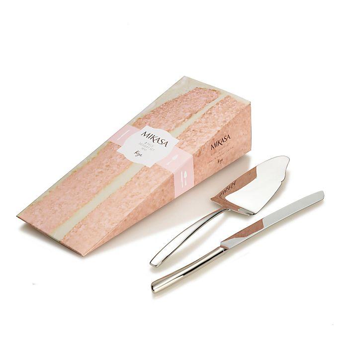 Alternate image 1 for Mikasa® Kya Smoke 2-Piece Cake Knife and Server Set