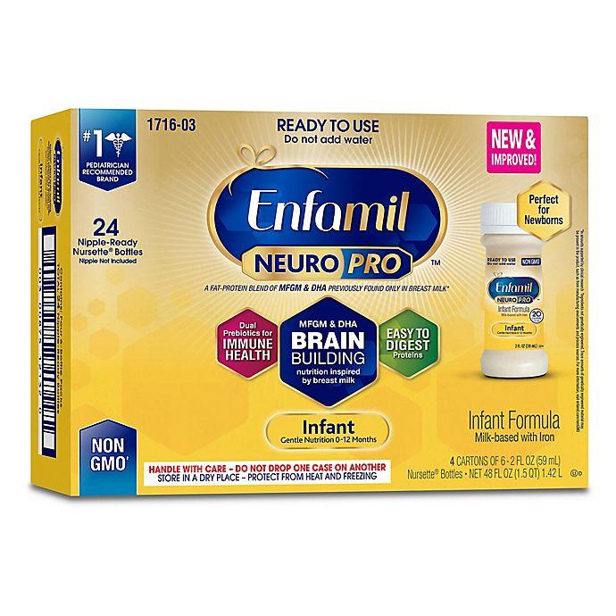 Alternate image 1 for Enfamil™ NeuroPro™ 24-Pack of 2 fl. oz. Ready-to-Feed Infant Formula Bottles
