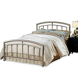 Hillsdale Claudia Complete Bed with Rails in Matte Nickel