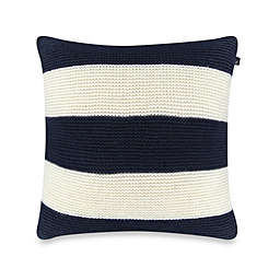 Nautica® Mainsail Knit Square Throw Pillow in Navy